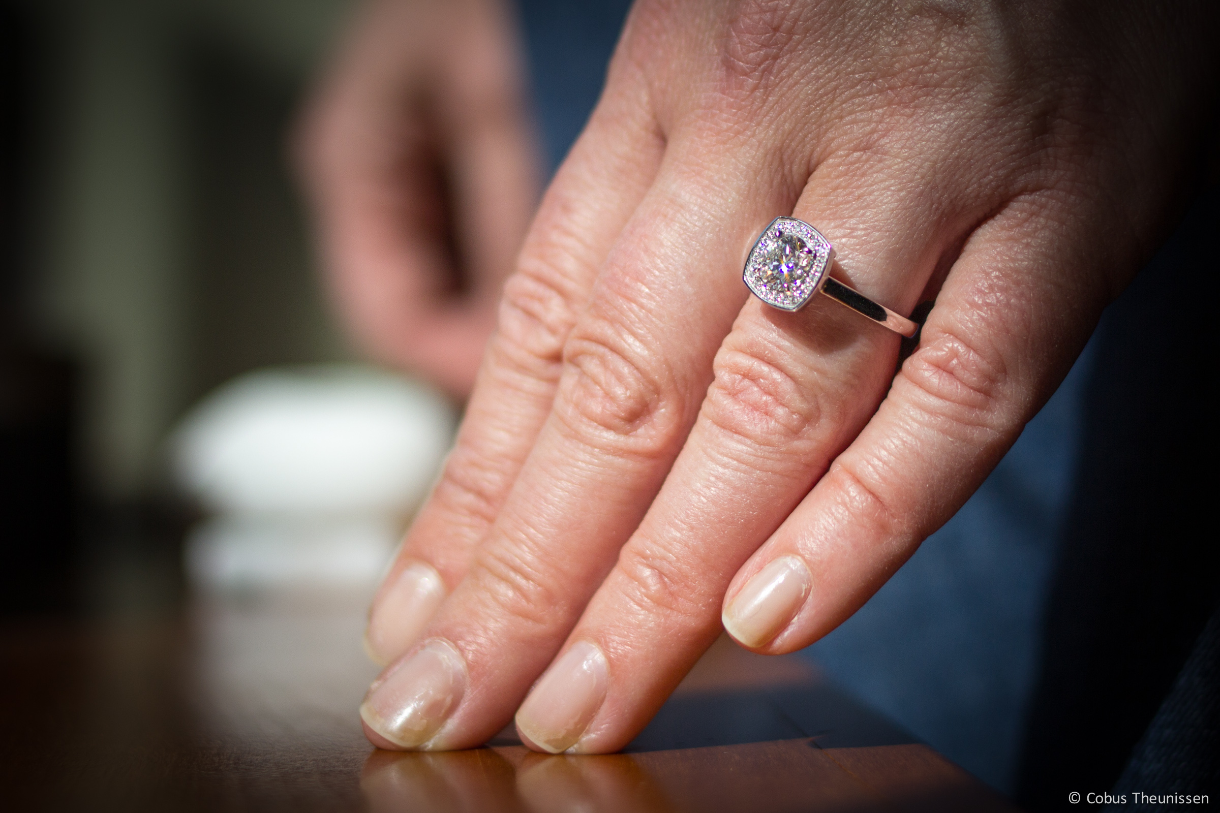 Maureen's new Engagement ring