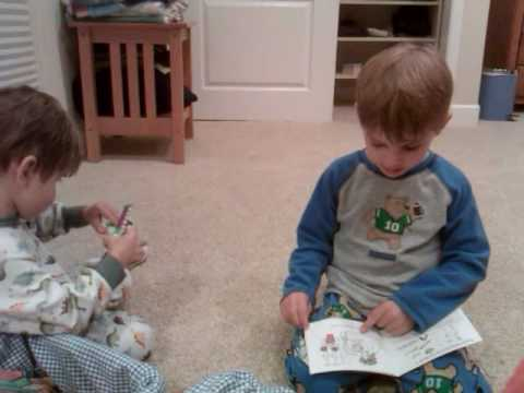 Daniel reading to Colin