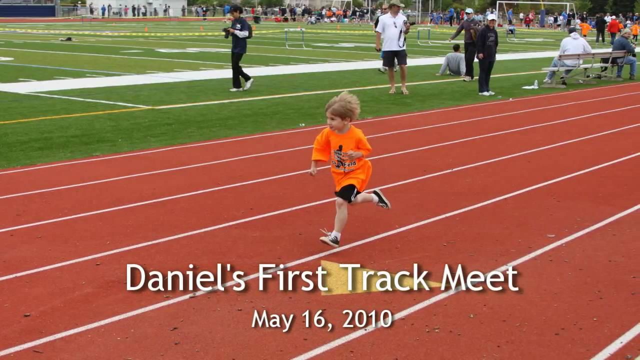 Daniel's first track meet