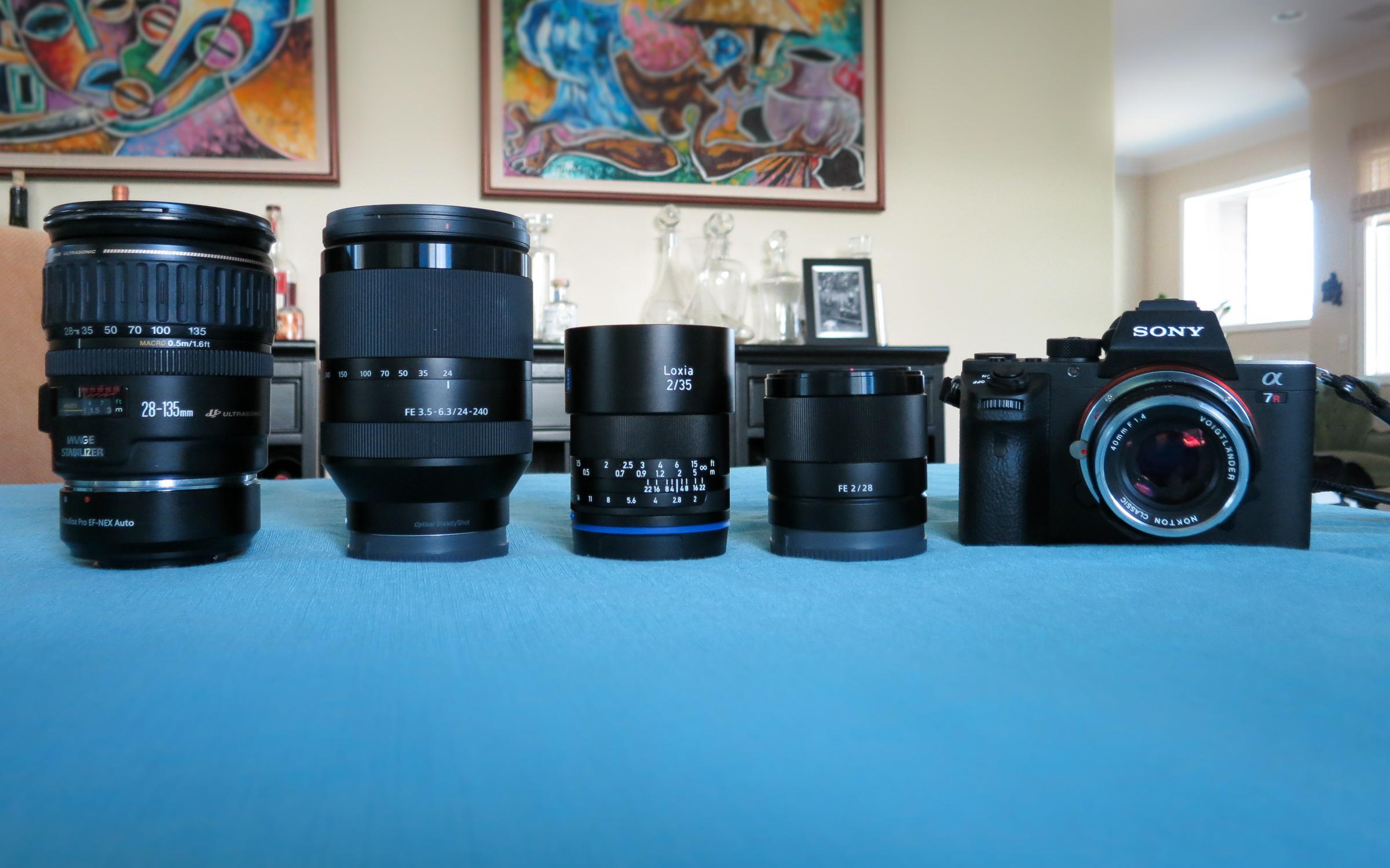 Sony a7Rii + Lenses
